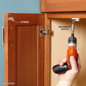 A Trick to Keep Cabinet Doors Closed | Norway Hill Home Inspections