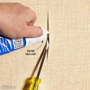 how to patch wallpaper seams