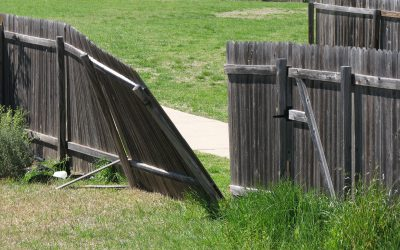 Repair wood fences and gates