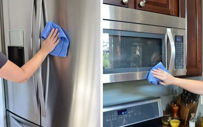 An easy way to clean stainless steel appliances